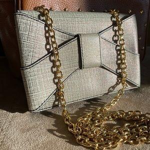 ZAC Zac Posen Shirley Bow Gold Crossbody